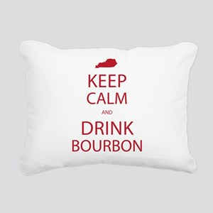 Keep Calm and Drink Bour Rectangular Canvas Pillow